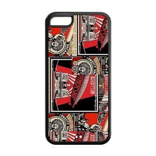 Custom Your Own Led Zeppelin Rock Band Silicon iPhone 5C Case , Best Durable Led Zeppelin iPhone 5C Case Cell Phones & Accessories