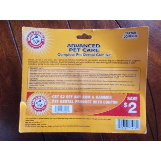 Arm and Hammer Tartar Control Complete Dental Care Kit, Includes Finger Brush, Toothbrush, Dental Water Additive, Toothpaste and Toy  Pet Dental Care Supplies