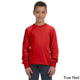 Fruit Of The Loom Fruit Of The Loom Youth Heavy Cotton Hd Long Sleeve T shirt Red Size L (14 16)