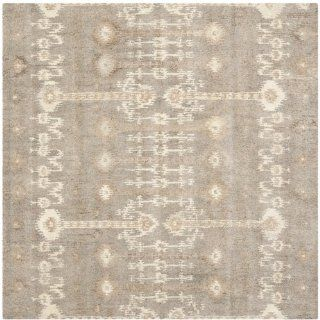 Safavieh WYD722A Wyndham Collection Square Area Rug, 7 Feet, Natural