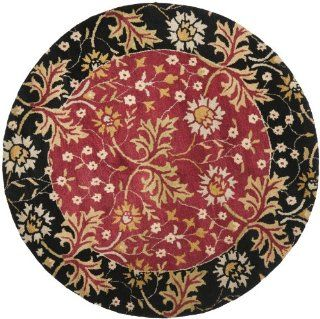 Shop Safavieh Jardin Collection JAR725A Handmade Wool Round Area Rug, 6 Feet in Diameter, Red and Black at the  Home D�cor Store. Find the latest styles with the lowest prices from Safavieh