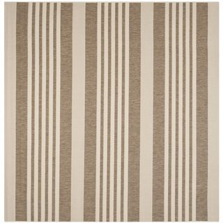 Safavieh Indoor/ Outdoor Courtyard Brown/ Bone Rug (710 Square)