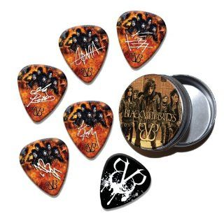 Black Veil Brides Set of 6 Loose Guitar Picks in Tin ( Collection E )