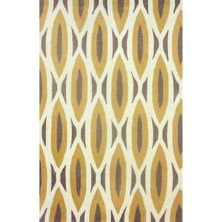 Nuloom Handmade Oblong Geometric Brown Rug (5 X 8)