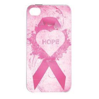 Breast Cancer Hope Pink Ribbon iPhone 4, 4s Case Cell Phones & Accessories