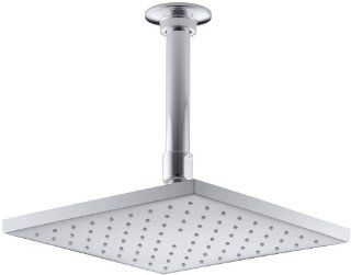 KOHLER K 13695 CP 8 Inch Contemporary Square Rain Showerhead, Polished Chrome   Fixed Showerheads