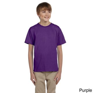 Gildan Gildan Youth Ultra Cotton 6 ounce T shirt Purple Size L (14 16)
