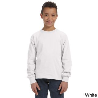 Fruit Of The Loom Fruit Of The Loom Youth Heavy Cotton Hd Long Sleeve T shirt White Size L (14 16)