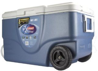 Coleman 62 Quart Xtreme Wheeled Cooler (Blue)  Coolers With Wheels  Sports & Outdoors