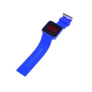 BestDealUSA Cool Deep Blue Color Touch Screen Digital LED Wrist Watch Silicone Band Watches