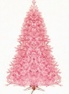 7.5' Pre Lit Pretty In Pink Artificial Christmas Tree   Pink Lights