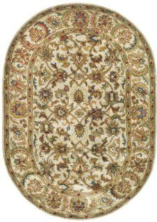 Safavieh Classics Collection CL758C Handmade Red and Gold Wool Oval Area Rug, 4 Feet 6 Inch by 6 Feet 6 Inch