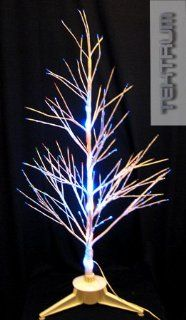 "Tektrum 32"" White Fiber Optic Lights Pine Tree With Rainbow Color Changing LEDs For Christmas/Holiday/Party"
