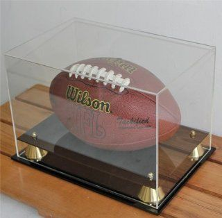 Memorabilia Football Display Case Holder Stand with 98% UV Protection Acrylic cover, ALL sides visible (AC FB05)