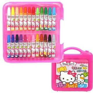 Sanrio Hello Kitty 24 Color Crayons Drawing Art Set  Other Products