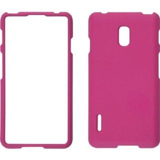 Ventev Soft Touch Snap On Case for the LG Optimus F7 US780   Pink Cell Phones & Accessories