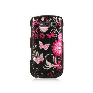 Pink Butterfly Hard Cover Case for Samsung Galaxy S Blaze 4G SGH T769 Cell Phones & Accessories