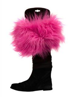 Three Cheers for Girls Faux Fur Boot Toppers, Pink Mink   Food Service Uniforms Apparel Accessories