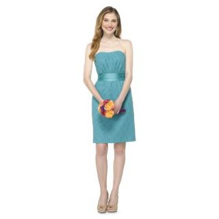 TEVOLIO Womens Lace Strapless Dress   Blue Ocean   10