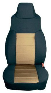 Rugged Ridge 13243.04 Black & Tan Custom Fit Poly Cotton Front Seat Cover   Pair Automotive