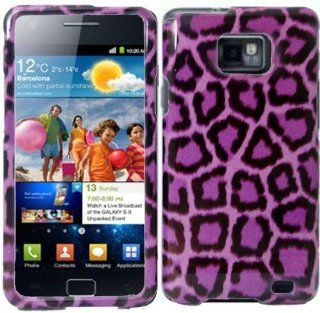 Purple Leopard Hard Case Cover for Samsung Attain i777 Cell Phones & Accessories