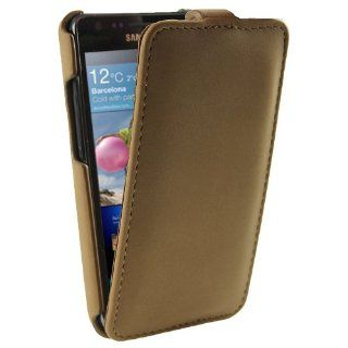 iGadgitz Brown genuine Leather Flip Case Cover Holder for Samsung i9100 galaxy S2 Android Smartphone Cell Phone. SUITABLE FOR AT & T MODEL ONLY (model number SGH I777) Cell Phones & Accessories