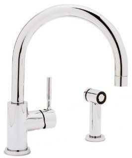 Blanco 440009 Meridian Single Lever Kitchen Faucet with Metal Side Spray, Chrome   Double Bowl Sinks