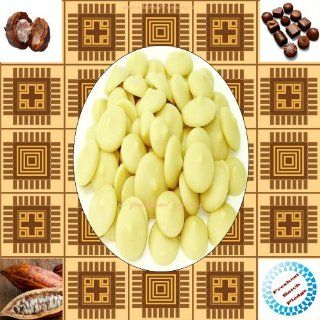 Certified Organic Edible Raw Cocoa Butter Wafers 2 Ounce (Non Deodorized & Unbleached)  Body Butters  Beauty