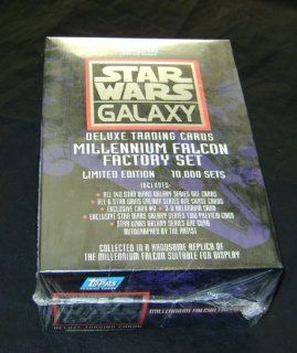 Star Wars Galaxy Deluxe Trading Card Millennium Falcon Factory Set Sealed Toys & Games