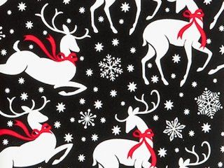 REINDEER & SNOWFLAKES Christmas Holiday Gift Wrap Paper   16 Foot Roll Health & Personal Care