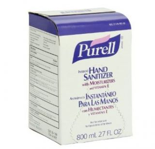 PURELL 9657 12 Original Instant Hand Sanitizer, 800 mL Bag In Box Refill (Case of 12)