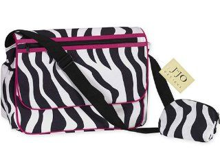 Hot Pink and Zebra Print Messenger Baby Diaper Bag  Diaper Tote Bags  Baby