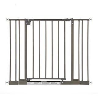 North States Easy close Burnished Steel Metal Gate