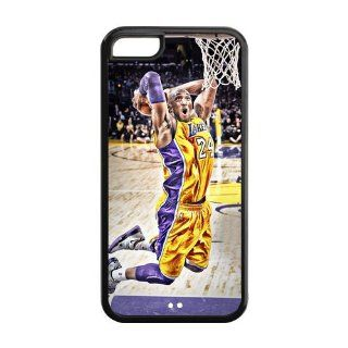 Custom NBA Los Angeles Lakers Back Cover Case for iPhone 5C LLCC 807 Cell Phones & Accessories