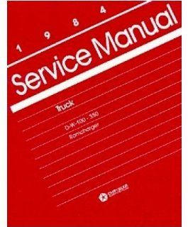 1984 Dodge Ram Truck Ramcharger Shop Service Repair Manual Book Reference OEM Automotive