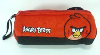 Angry Birds Soft Plush Skin Pencil Case, Stationery Bag, Pouch, Cosmetic Bag (Red)   gift for kid, boy, girl, children, son, daughter, nephew, niece, school, birthday, christmas, pen, ruler, erazer, toys, cosmetic, lipstick, mascara. Toys & Games