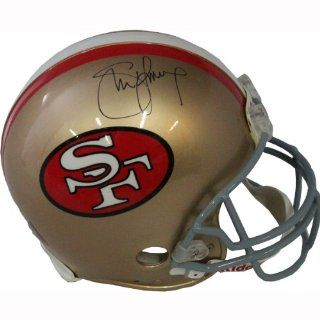 NFL San Francisco 49ers Steve Young Autographed Helmet  Sports Fan Football Helmets  Sports & Outdoors