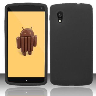 LG GOOGLE NEXUS 5 D820 SOLID BLACK SILICONE RUBBER SKIN COVER SOFT GEL CASE from [ACCESSORY ARENA] Cell Phones & Accessories