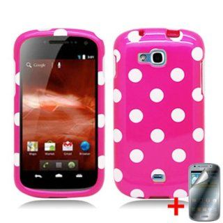 SAMSUNG GALAXY ADMIRE 2 PINK WHITE POLKA DOT COVER SNAP ON HARD CASE + SCREEN PROTECTOR from [ACCESSORY ARENA] Cell Phones & Accessories