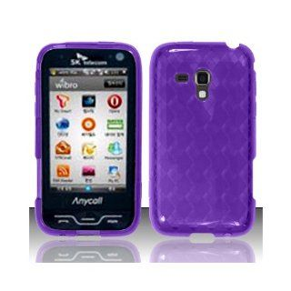 Purple Flex Cover Case for Samsung Galaxy Rush SPH M830 Cell Phones & Accessories