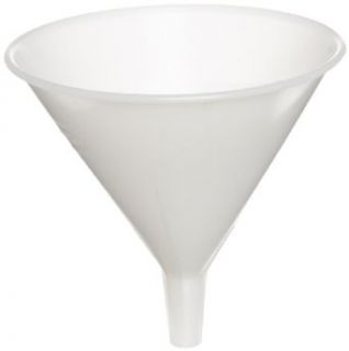 "Adcraft HZ 832 32 oz Capacity, 6 1/2"" Diameter, Frost White Boilable Plastic Funnel"