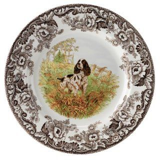 Spode Woodland Hunting Dogs English Springer Spaniel Dinner Plate Kitchen & Dining