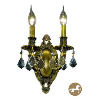 Christopher Knight Home Aubonne 2 light Royal Cut Crystal/ Antique Bronze Wall Sconce