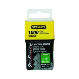 Stanley Tra204T 1/4 Inch Light Duty Narrow Crown Staples, Pack of 1000(Pack of 1000)   Hardware Staples