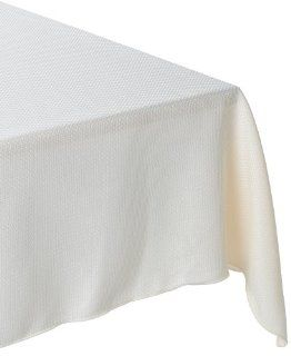 Bardwil Cobblestone 90 inch Round Tablecloth, Cream   Table Linens