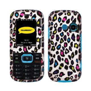 Silver Black Pink Red Purple Blue Green Colorful Leopard Rubberized Snap on Design Case Hard Case Skin Cover Faceplate for Lg Cosmos Vn250 Rumor 2 Rumor2 Lx265 + Screen Protector Film + Free Cell Phone Bag Cell Phones & Accessories