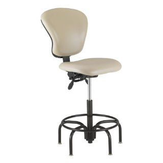 850 Series Lab Chair w/ Adjustable Back   Black Steel Legs w/ Glides   Desk Chairs