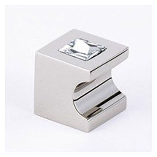 "Alno C853 34 PN Polished Nickel Cabinet Hardware 3/4"" Swarovski Crystal Knob   Cabinet And Furniture Knobs"