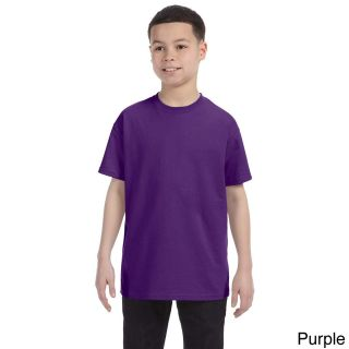 Gildan Gildan Youth Heavy Cotton T shirt Purple Size M (10 12)