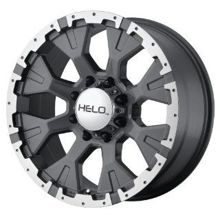 "Helo HE878 Dark Silver Wheel with Machined Flange (16x9""/6x5.5"") Automotive"
